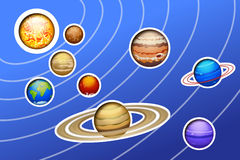 Solar system painted Stock Photography