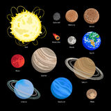 Solar system planet icons Royalty Free Stock Photos