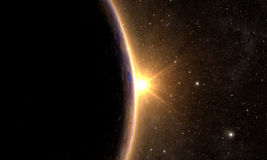 Solar System - Planet Mercury Royalty Free Stock Images