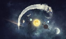 Solar system planets . Mixed media. Solar system planets as science concept. Mixed media Stock Photo