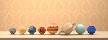 Solar system of planets with background. Stock Photography