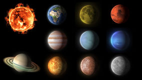 Solar system planets collection Royalty Free Stock Images