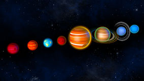 Solar system planets. 3d rendering. Solar system planets. Children book. 3d rendering Royalty Free Stock Photos