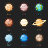 Solar System Planets Icon Set Stock Photography