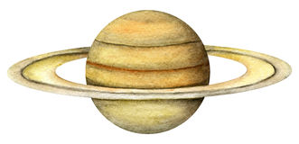 Solar System Planets - Saturn. Stock Photo
