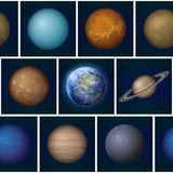 Solar system planets seamless Royalty Free Stock Photography