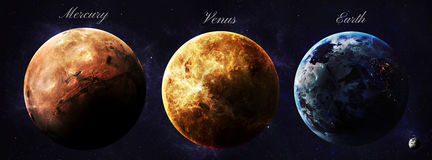 The solar system planets shot from space showing Royalty Free Stock Photography