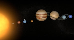 Solar system and planets. Planets of the solar system in space Royalty Free Stock Photography