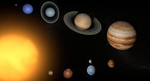 Solar System planets space universe sun Stock Image