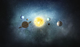 Solar system planets stock images