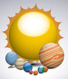 Solar system planets Royalty Free Stock Image