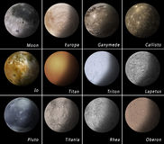 Solar System Satellites Stock Photo