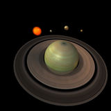 Solar System - Saturn Royalty Free Stock Photos