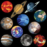 Solar system set Royalty Free Stock Image