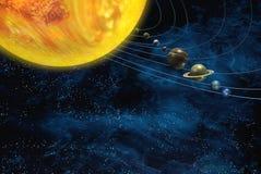 Solar system space vector illustration