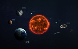 Solar system and space objects. Elements of this image furnished by NASA. Solar system and space objects in space. Elements of this image furnished by NASA Royalty Free Stock Image