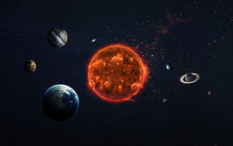 Solar system and space objects. Elements of this image furnished by NASA. Solar system and space objects in space. Elements of this image furnished by NASA stock photos