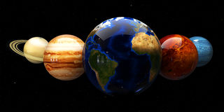 Solar system and space objects. Elements of this image furnished by NASA Royalty Free Stock Image