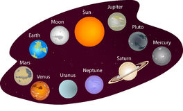 Solar system and space objects Stock Photography
