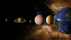 Solar System 2 stock video footage