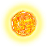 Solar System - the Sun. Watercolor illustration. Royalty Free Stock Photo