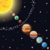 Solar system universe space Royalty Free Stock Photos