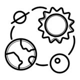 Solar system vector icon stock illustration
