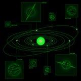Solar system wireframe Stock Image