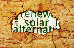 Solar  text on paper hole Royalty Free Stock Photography