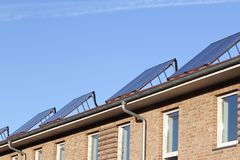 Solar thermal collectors Stock Photos