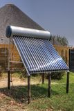 Solar thermal installation Stock Photography