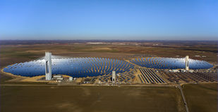 Solar thermal power plant Stock Image