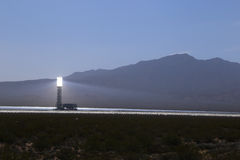 Solar thermal power plant Stock Images
