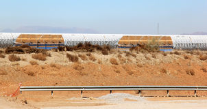 Solar thermal power station near Guadix, Spain Royalty Free Stock Photo