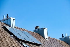 Solar thermal system Stock Images
