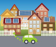 Solar town Royalty Free Stock Photo