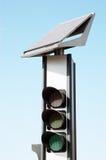 Solar traffic lights Royalty Free Stock Image