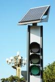 Solar traffic lights Stock Image