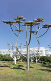 Solar by tree structure Stock Photos