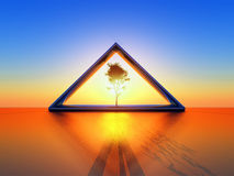 Solar triangle Stock Photography