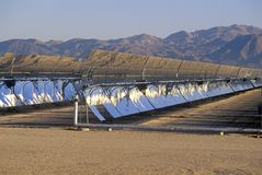 Solar Two panels at the South California Edison Plant in Barstow, CA Stock Photos