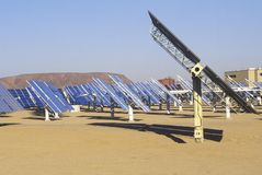Solar Two panels at South California Edison Plant in Barstow, CA Stock Images