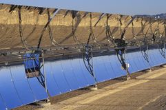 Solar Two panels at South California Edison Plant in Barstow, CA Stock Photography