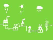Solar- und Windenergie stock abbildung