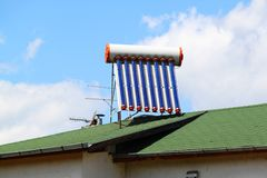 Solar water heater Stock Photos