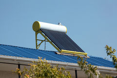 Solar water heater Stock Photography