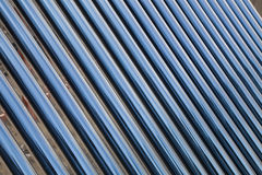 Solar water heater collector Stock Photos