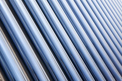 Solar water heater collector Stock Photo
