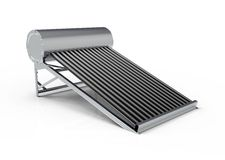 Solar water heater isolated on white Royalty Free Stock Photography