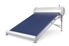 Solar water heater panels Royalty Free Stock Image